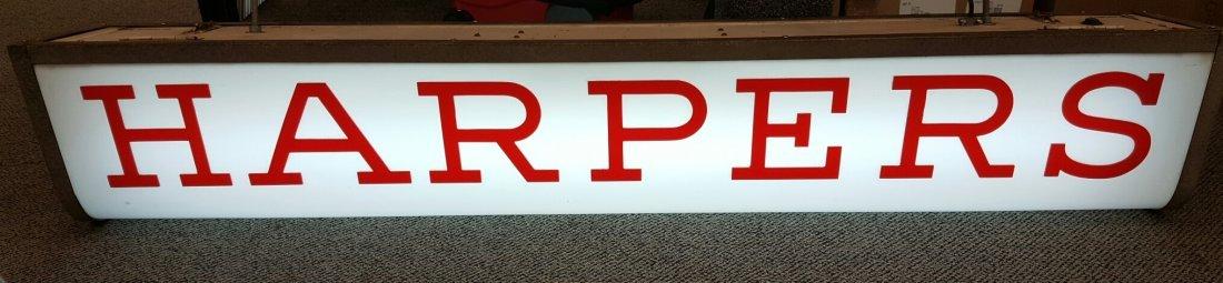 Vintage 2 sided Harpers Light Up Sign