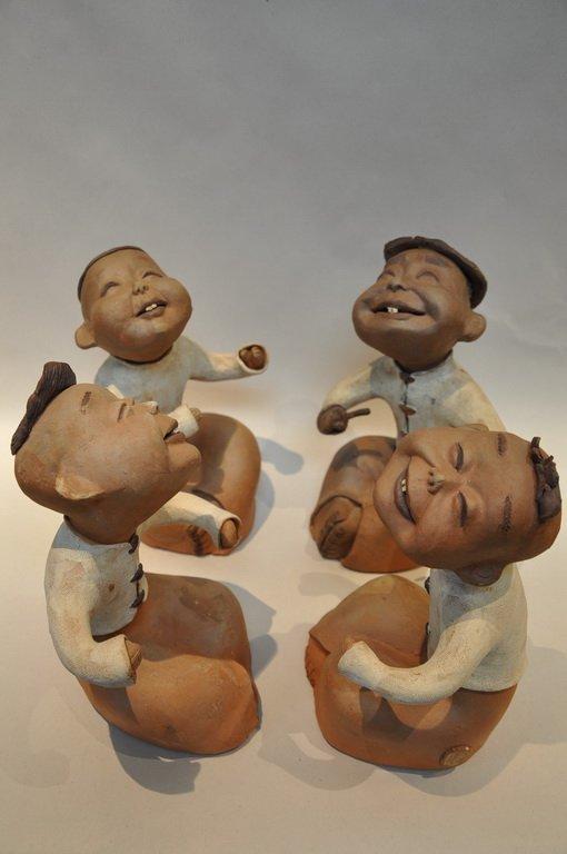 Set Of Pottery Figurine