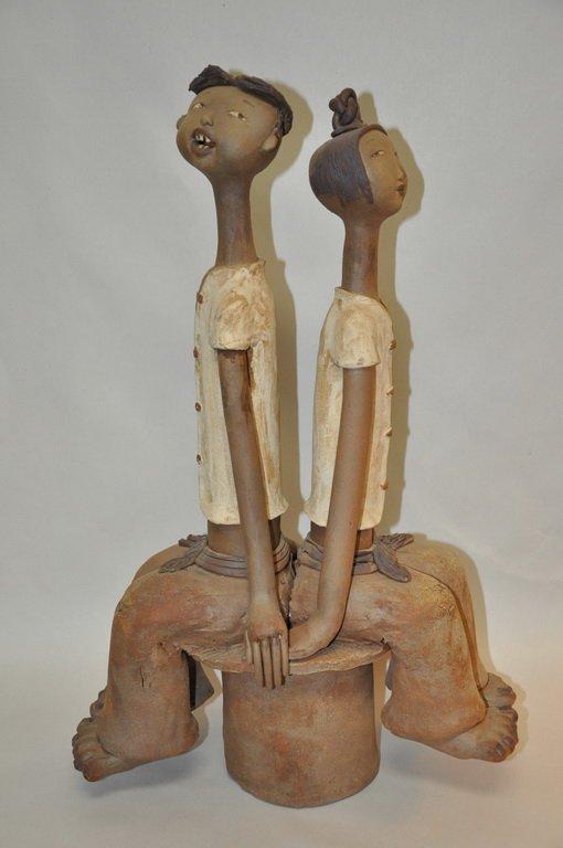 Fine Large Pottery Figurine