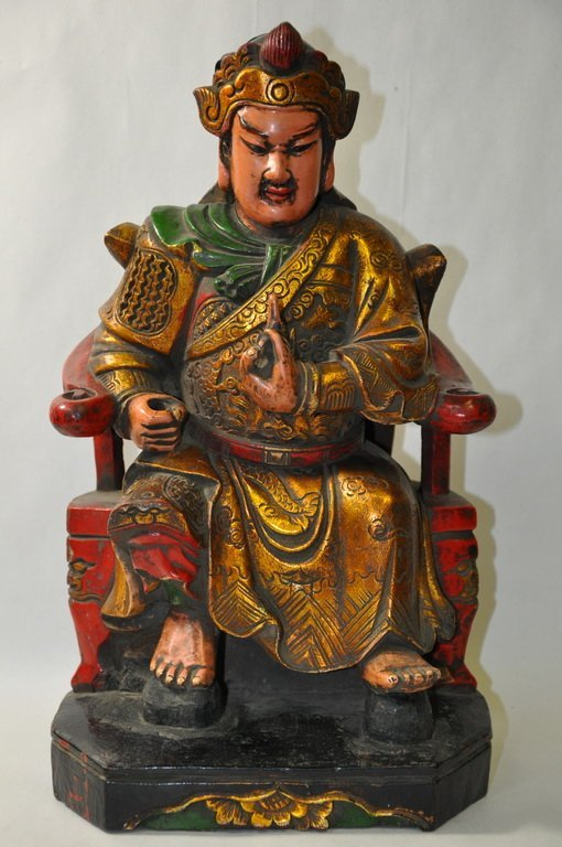 Chinese Carved Wooden Figurine