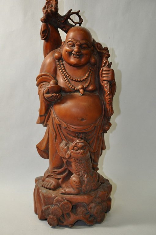 Chinese Hand Carved Boxwood Figurine