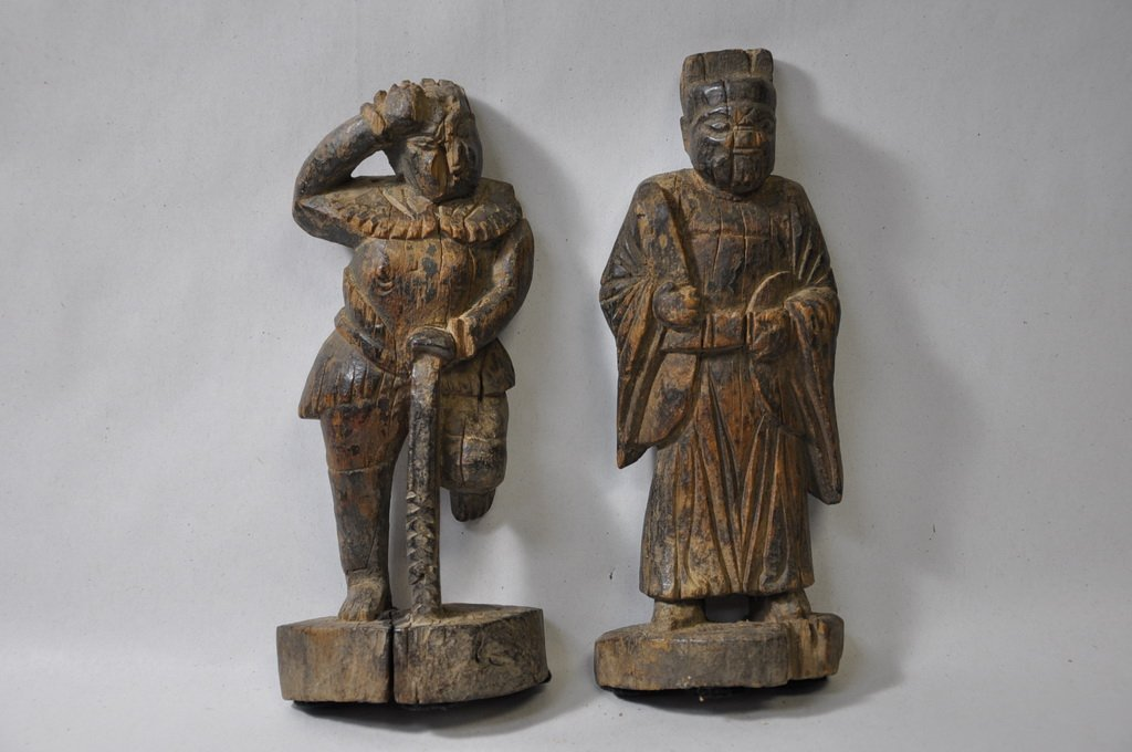 Chinese Hand Carved Wooden Figurine