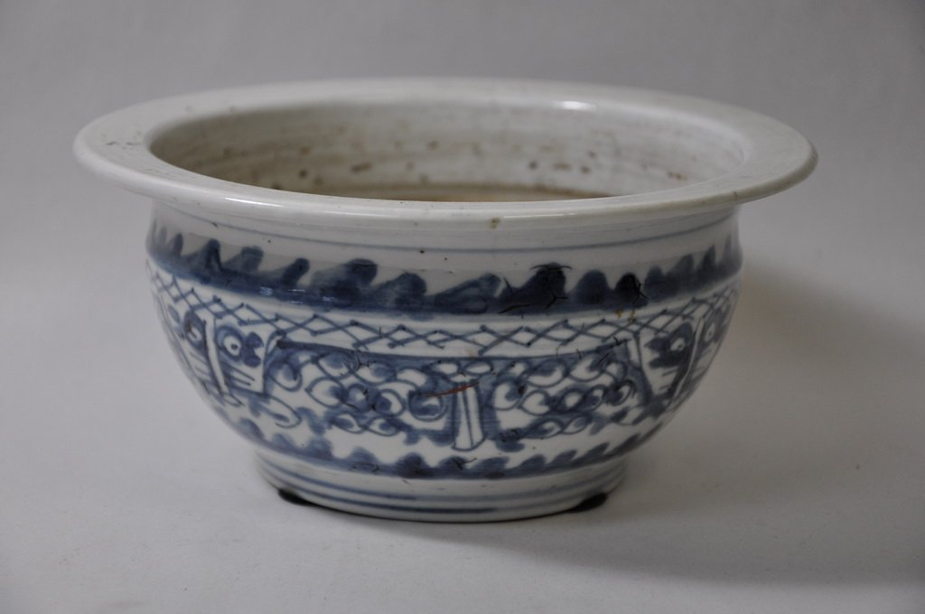 Chinese Blue and White Incense Burner