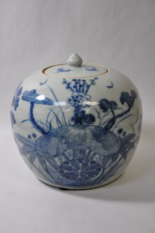 Chinese Blue and White Urn