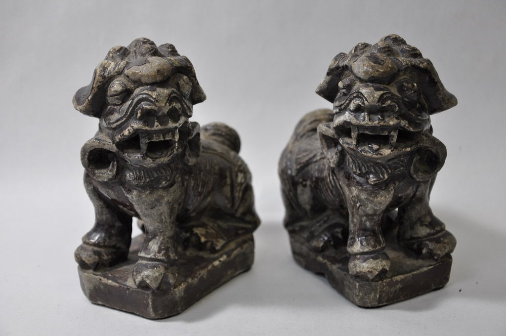 Chinese Stone Foo Dogs