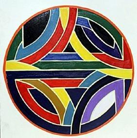 Discs - Oil on Paper - Frank Stella