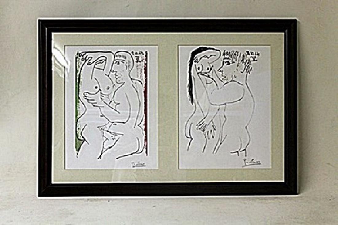 Framed 2-in-1 Picasso Lithographs (225E-EK)