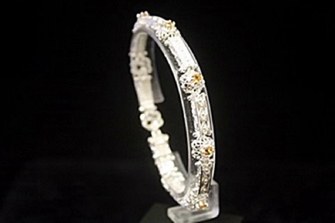 Gorgeous Golden Citrine Silver Bracelet