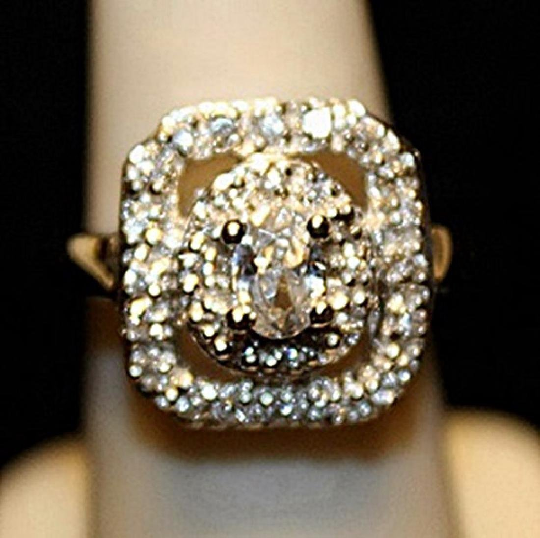 Beautiful White Sapphires Sterling Silver Ring. (742L)