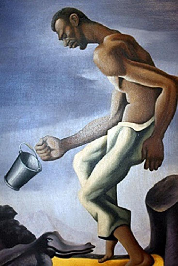 Mr. Reilnols - Thomas Hart Benton - Oil On Canvas