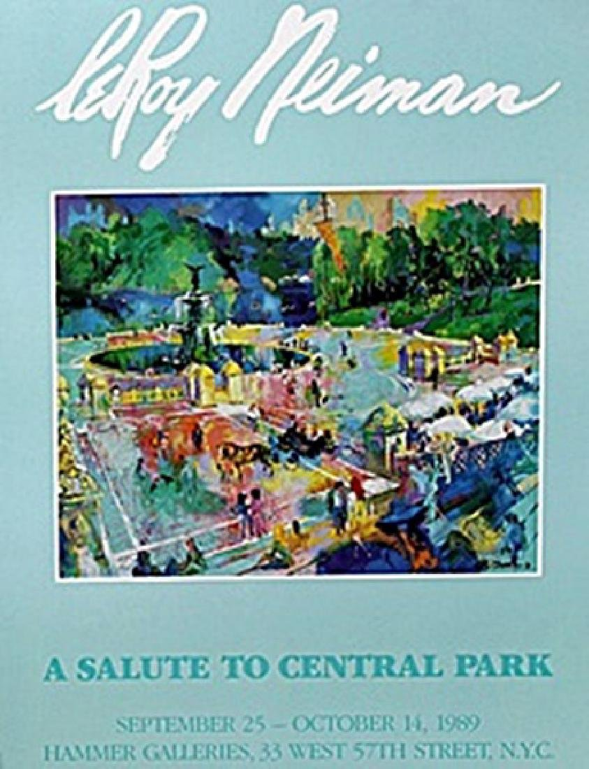 """Print """"A Salute to Central Park""""  Leroy Neiman"""