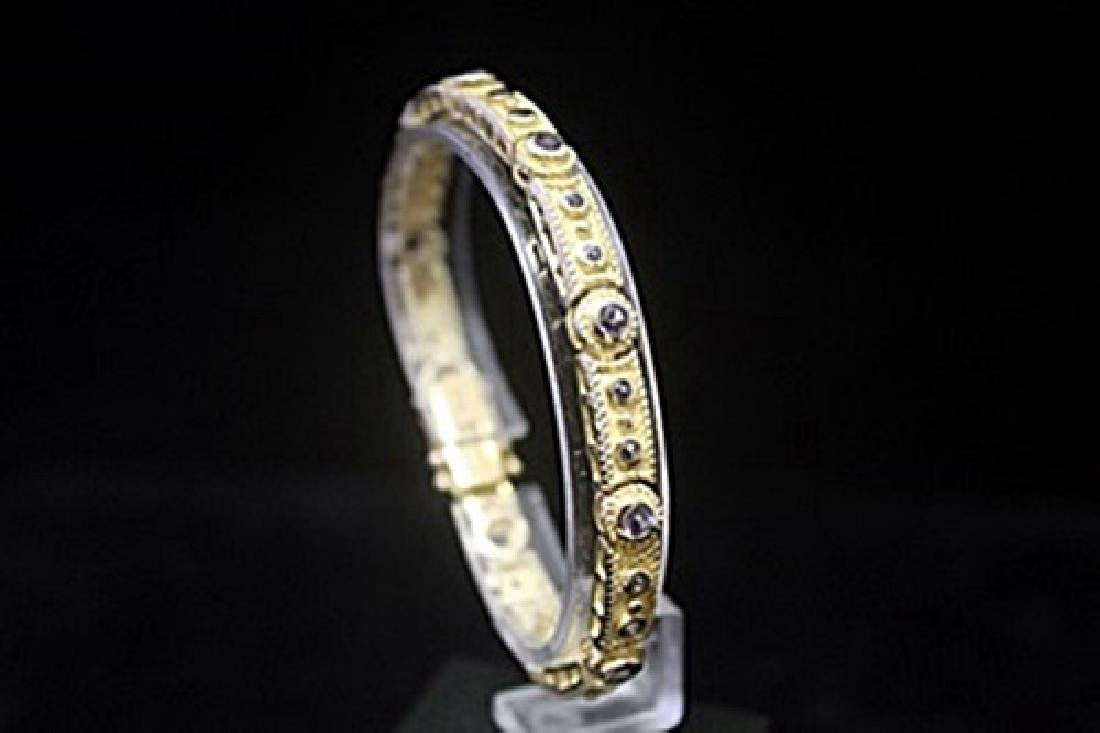 Exquisite 14kt Gold over Silver Alexandrite Bracelet