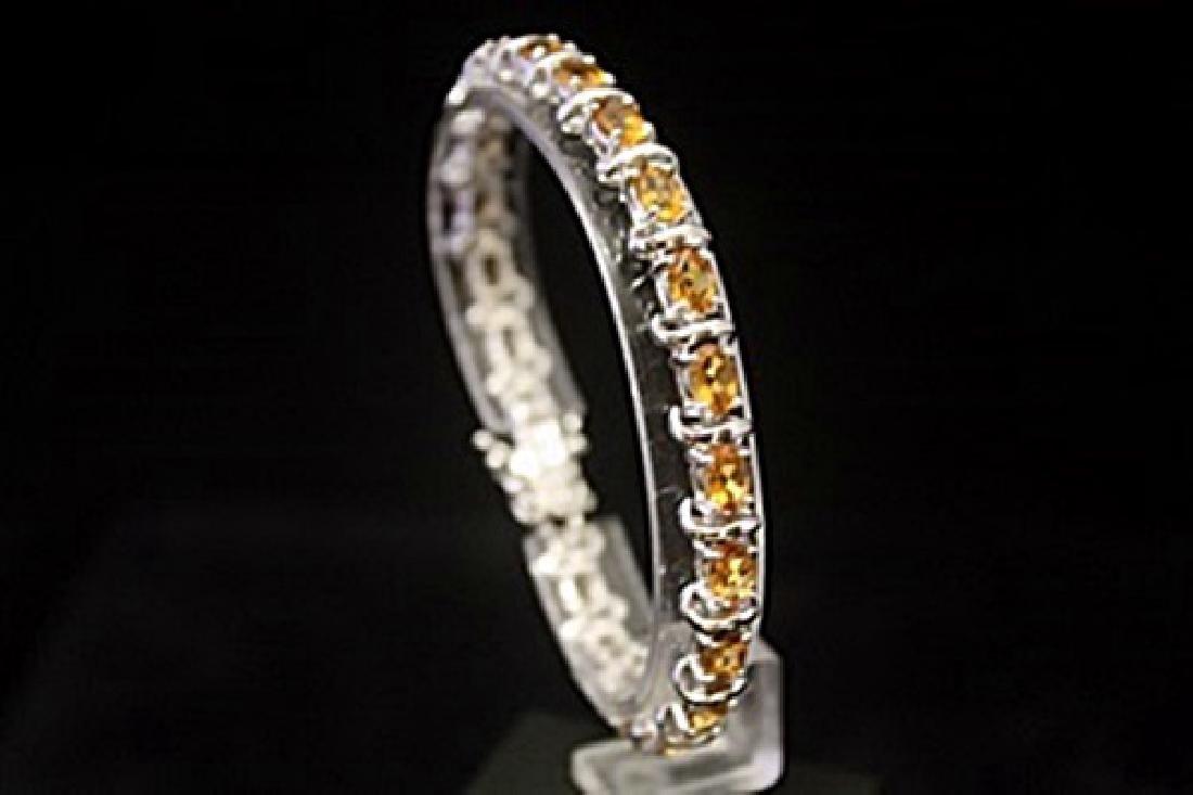 Elegant Golden Sapphire Silver Bracelet