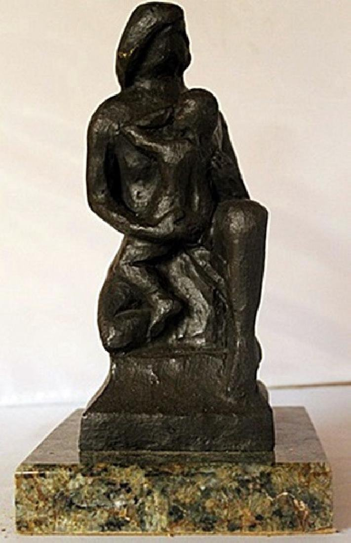Bronze Sculpture on a Marble Base