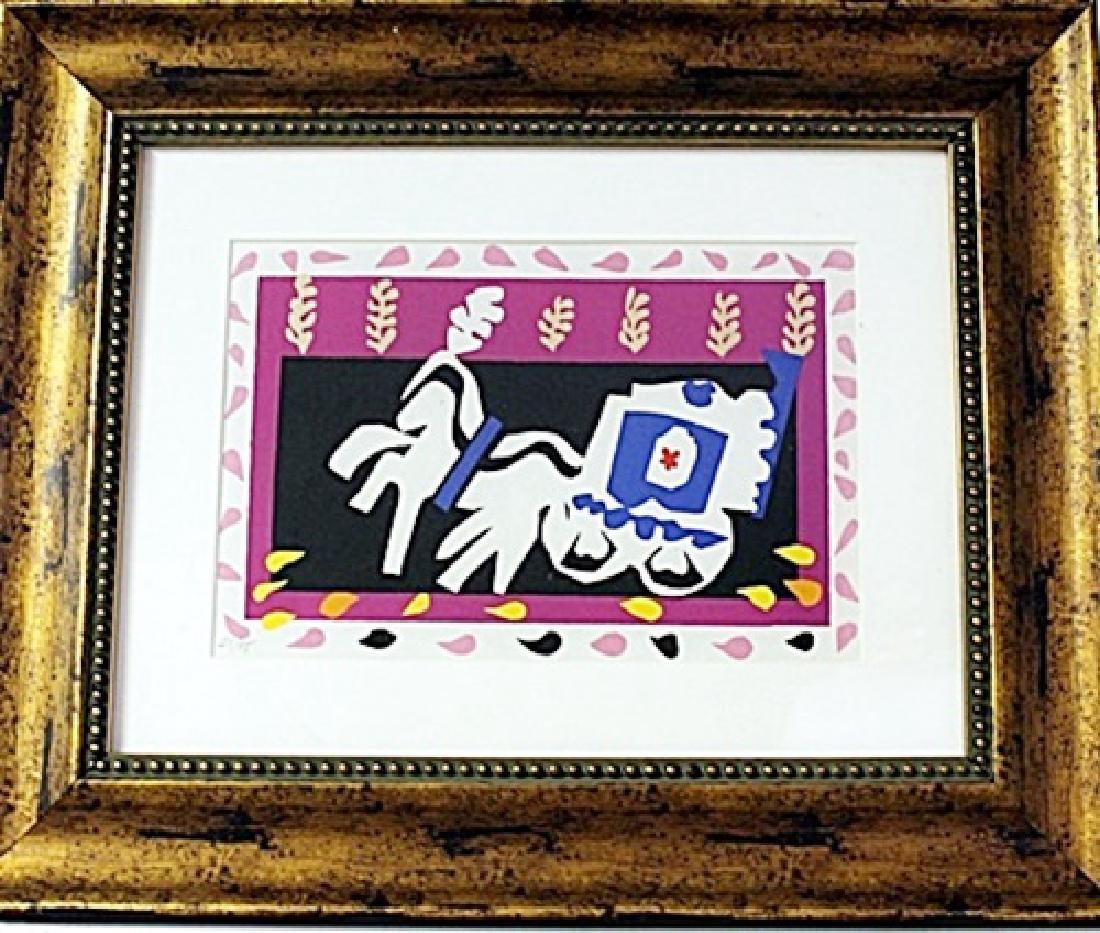 Framed Henri Matisse-L'Enterrement de Pierrot LE