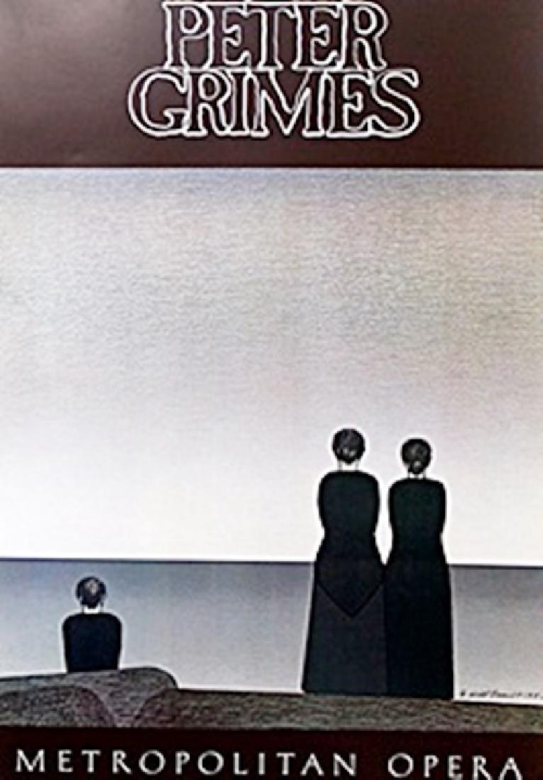 "Gallery Poster ""Peter Grimes: Metropolitan Opera""  Will"