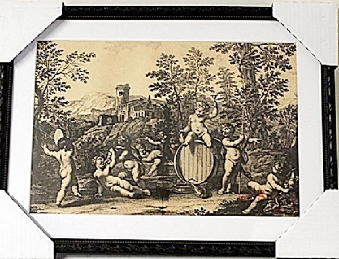 Framed Bartolozzi Francesco-BACCANALE DI PUTTI