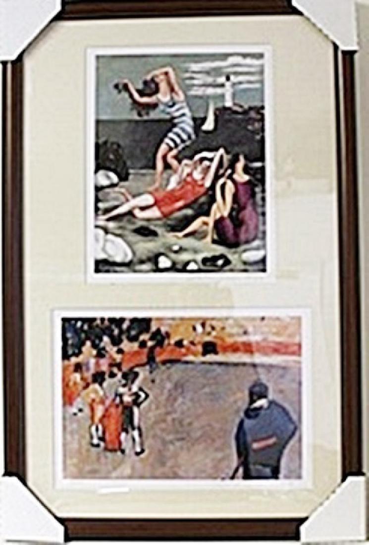 Framed 2-in-1 Picasso Lithographs (130E-EK)