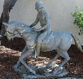 Horse Rider - Bronze Sculpture