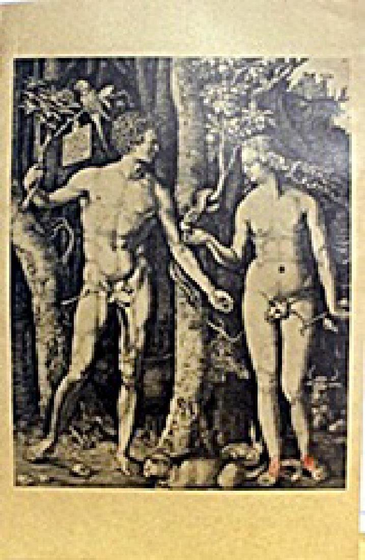 "Museum Lithograph ""Adam and Eve (The Fall of Man)"""