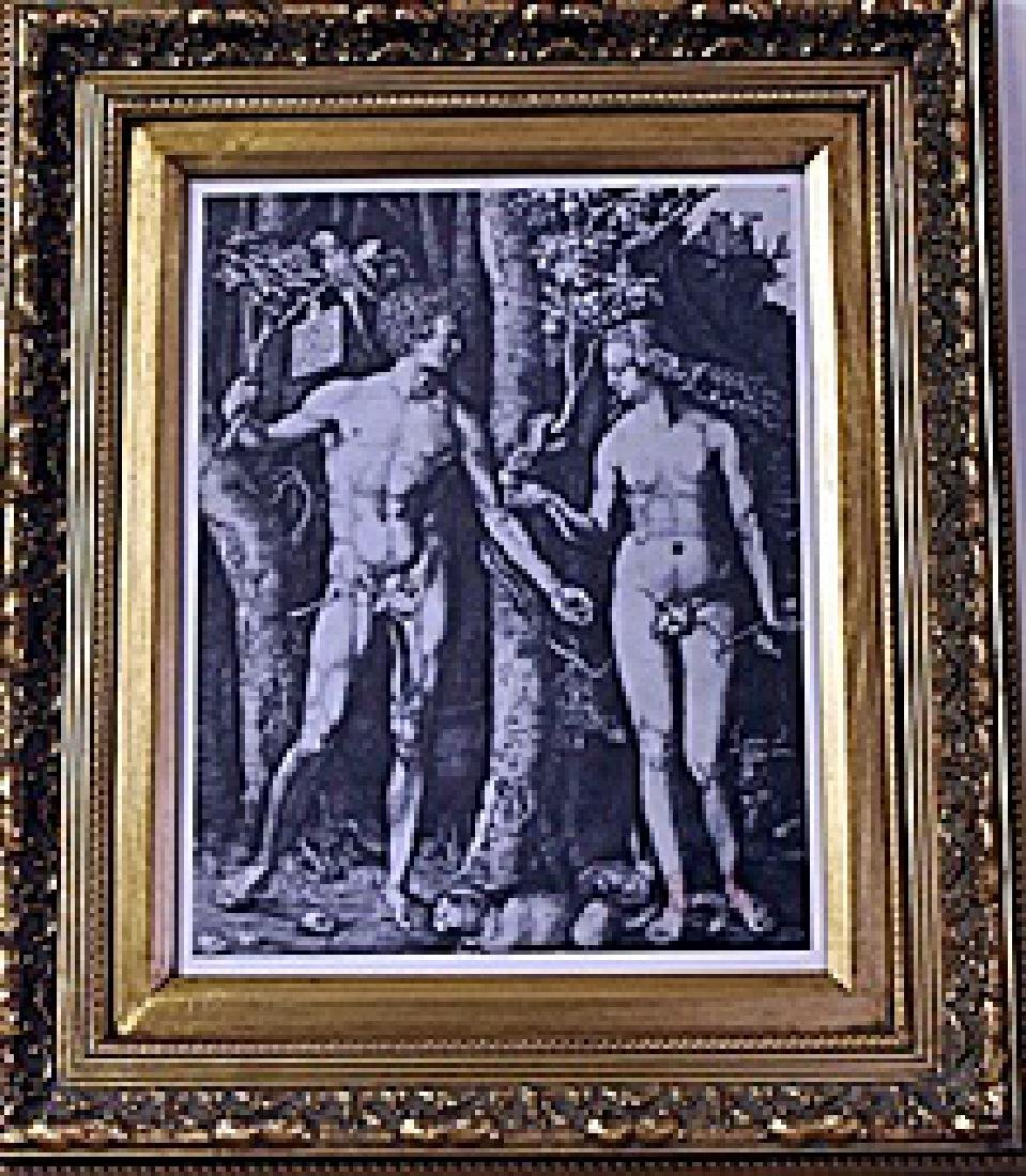 Framed Albrecht Dürer-Adam and Eve Engraving (16E-EK)
