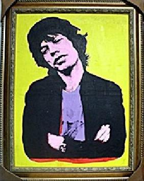 Mick Jagger 1976' - Andy Warhol