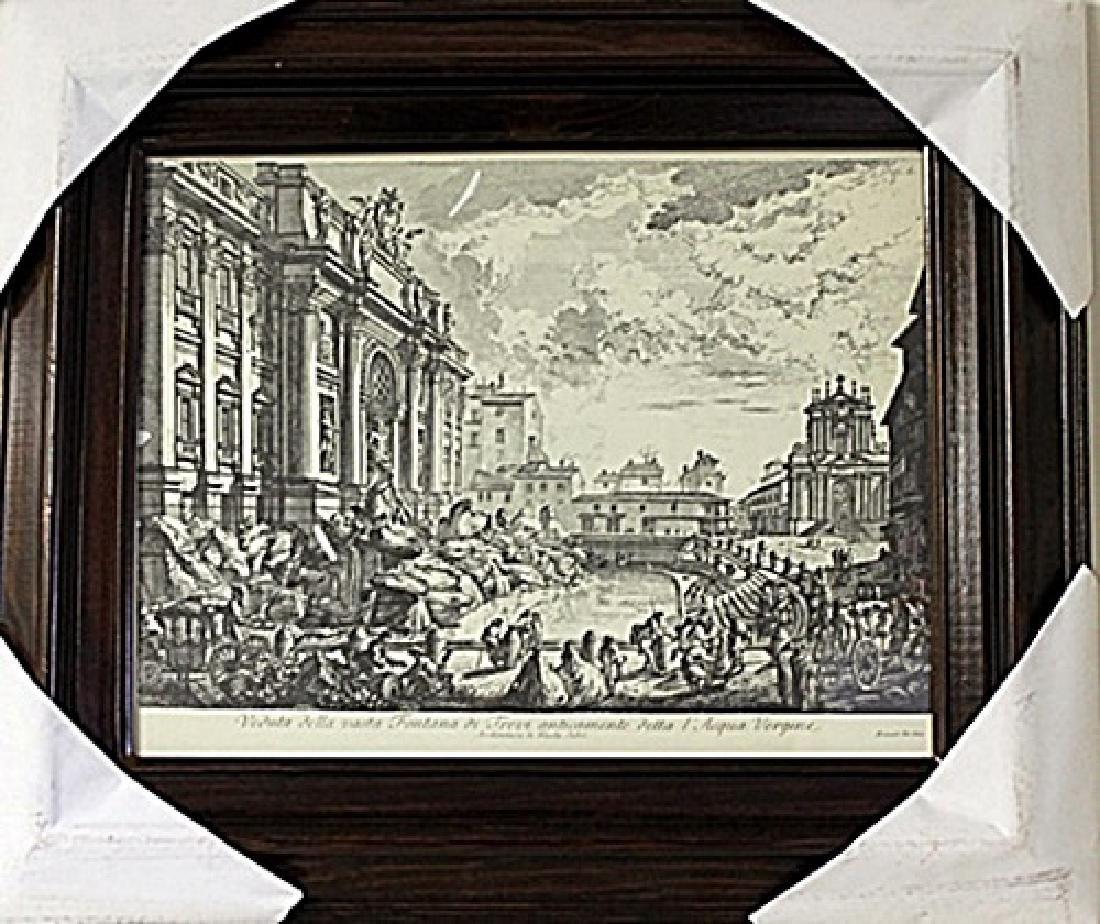 Framed Nicola Salvi-Engraving (69E-EK)