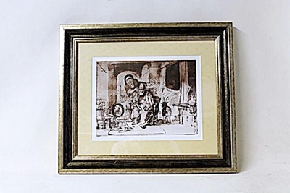 Framed Rembrandt Van Rijn Lithograph (188E-EK)