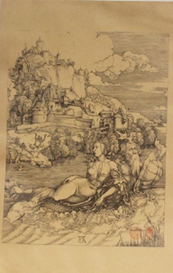 "Museum Lithograph ""The Sea Monster"" after Albrecht"