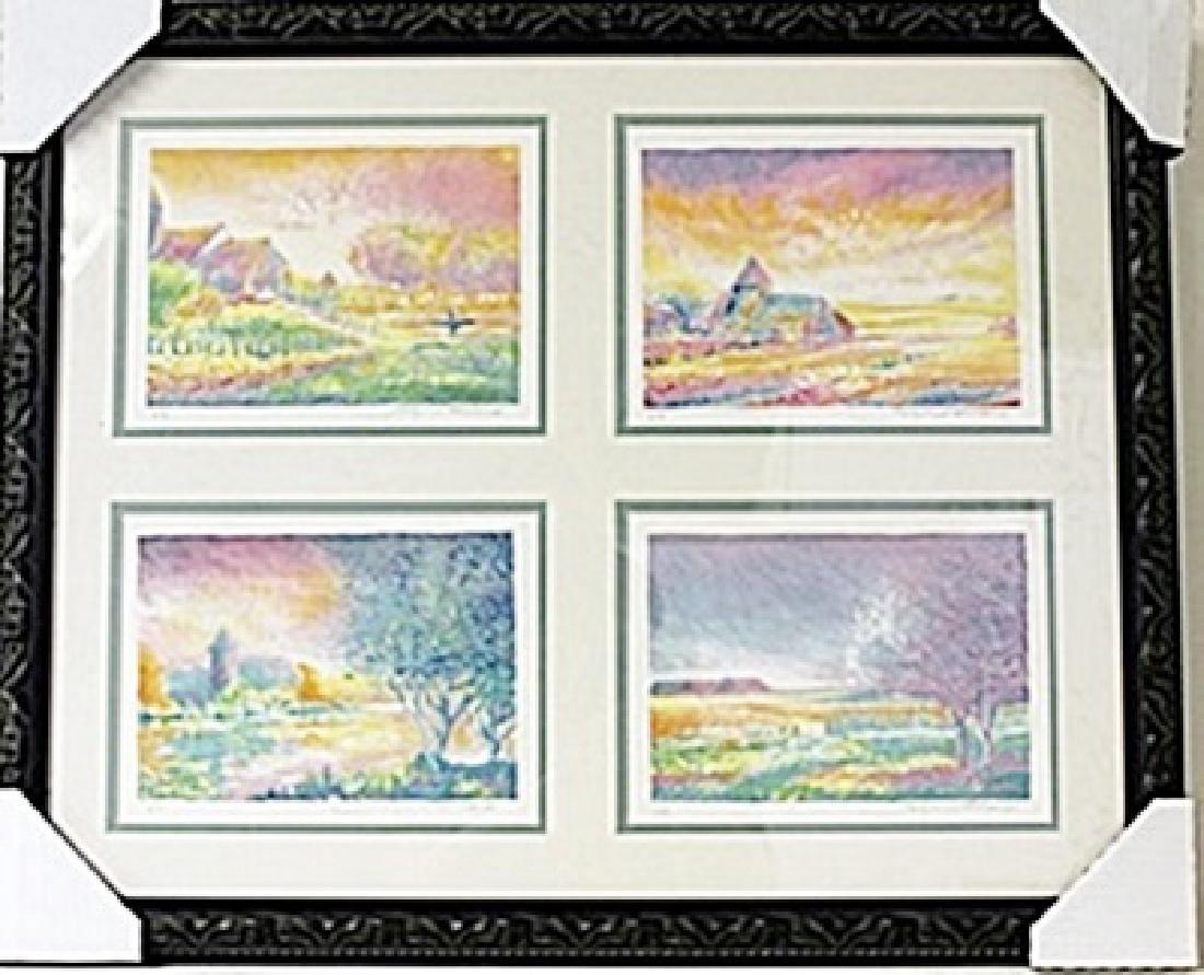 Framed 4-in-1-Jean Fernard Lithographs (92E-EK)