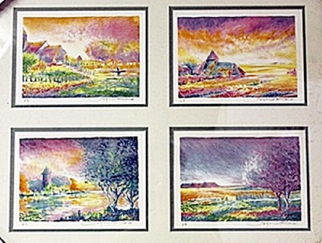 Framed 4-in-1-Jean Fernard Lithographs (92E-EK) - 2