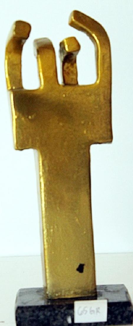 Gold Over bronze Sculpture - after Edouardo Chillida