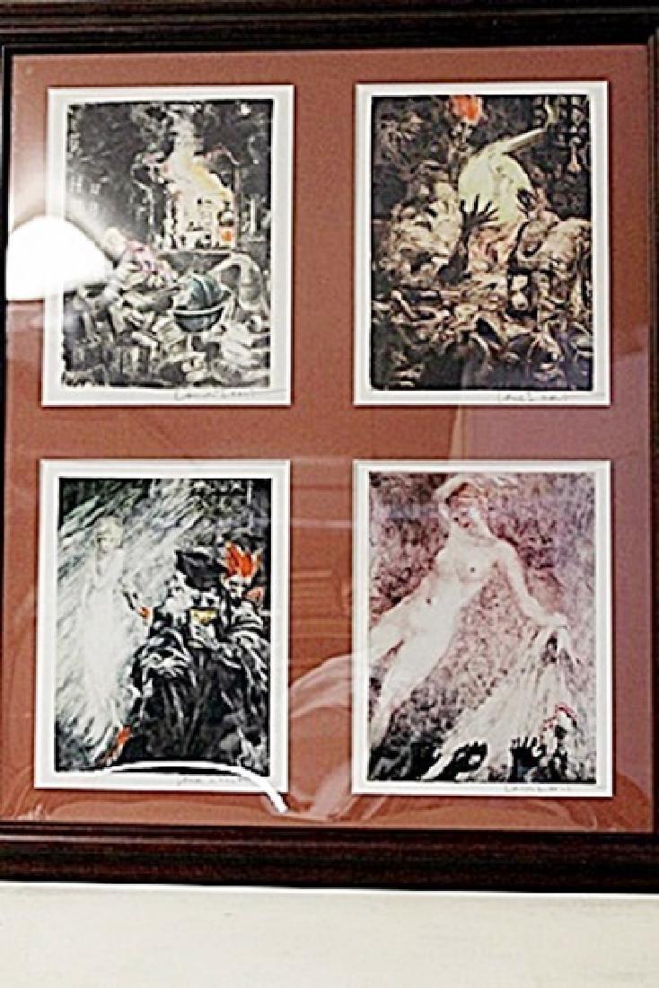 Framed 4-in-1 Louis Icart Lithographs (212E-EK)