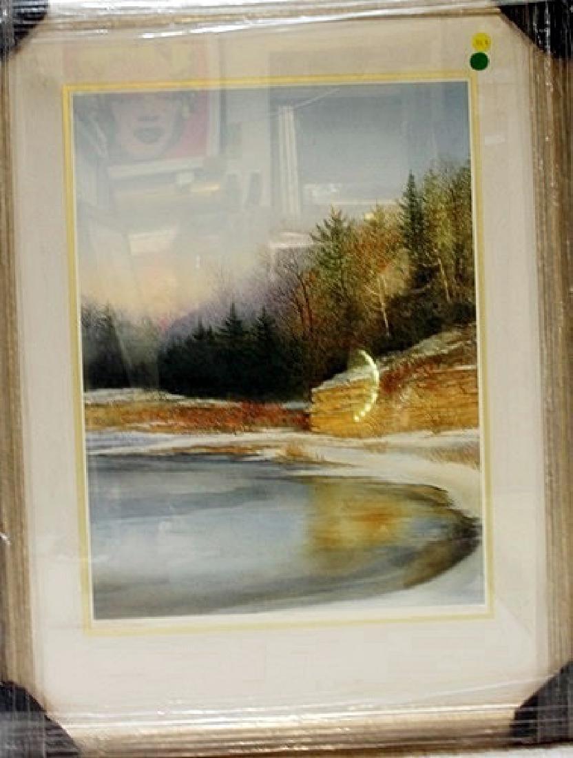 "Framed Handsigned Lithograph ""Cove Point"" Arnold Alaniz"