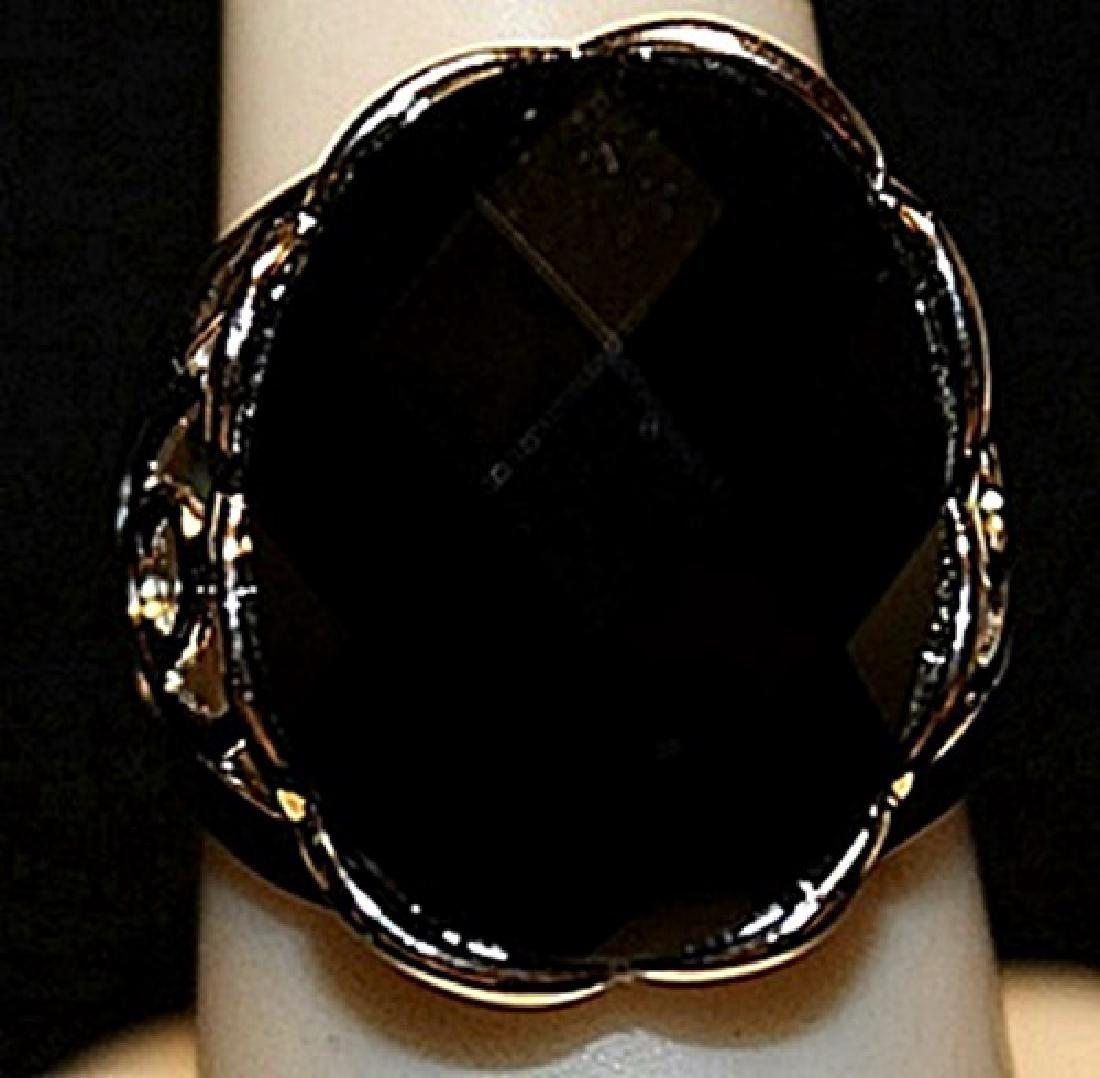 Fancy Garnet Sterling Silver Ring. (173L)