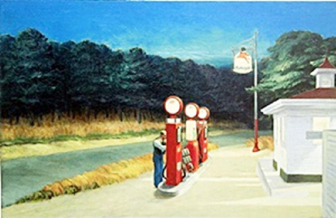 "Print ""Gas 1940""  Edward Hopper"