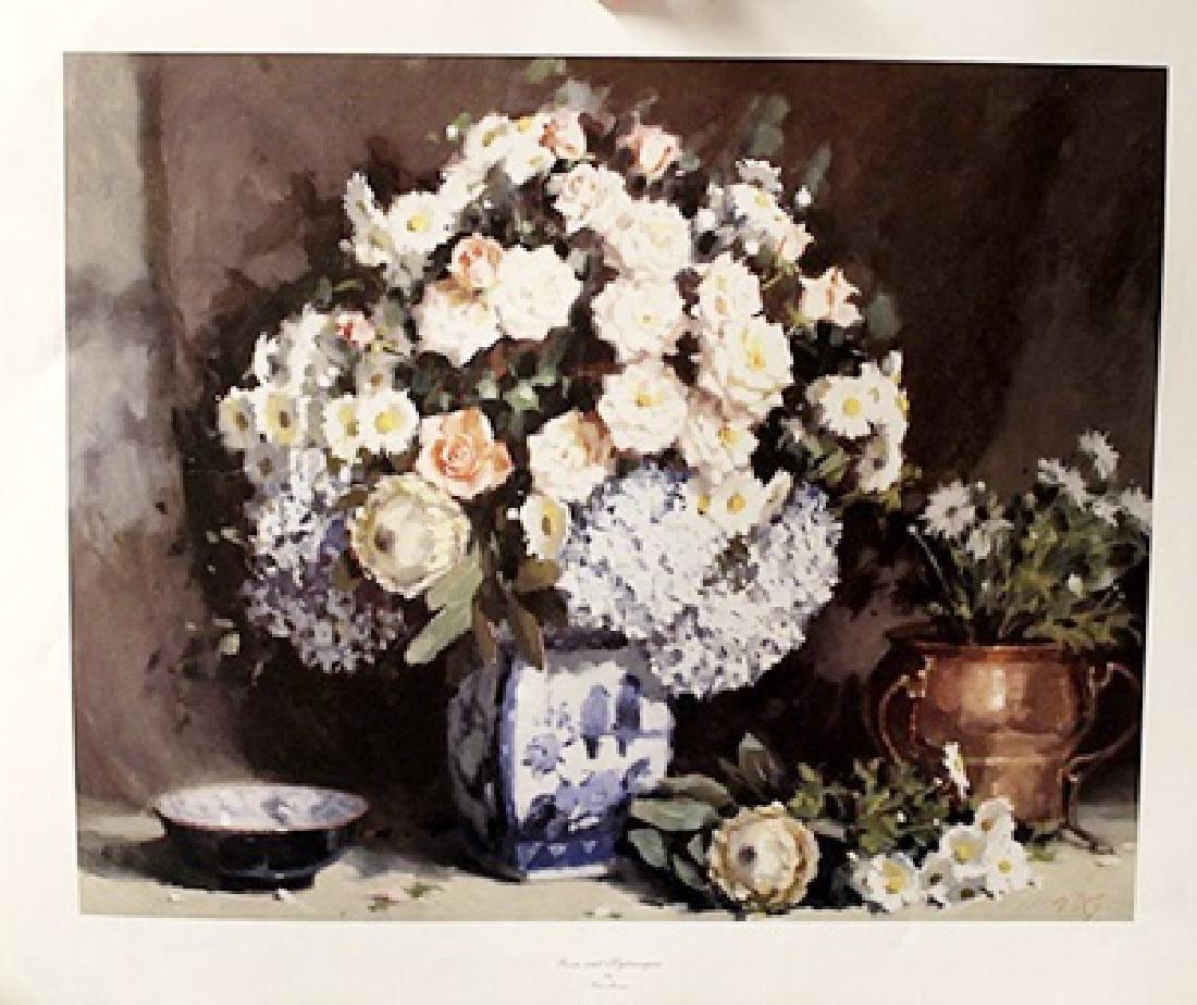 Roses & Hydrangeas - Pat Moran - Lithograph