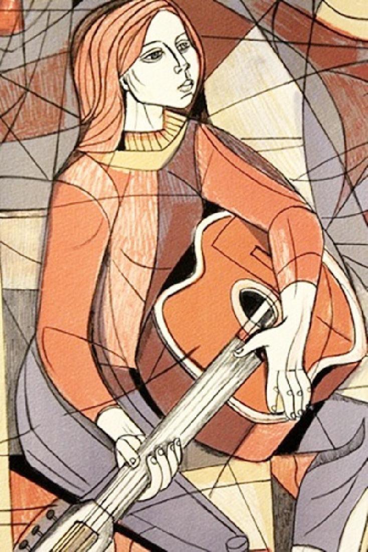 Guitar - Lithograph - Irving Amen