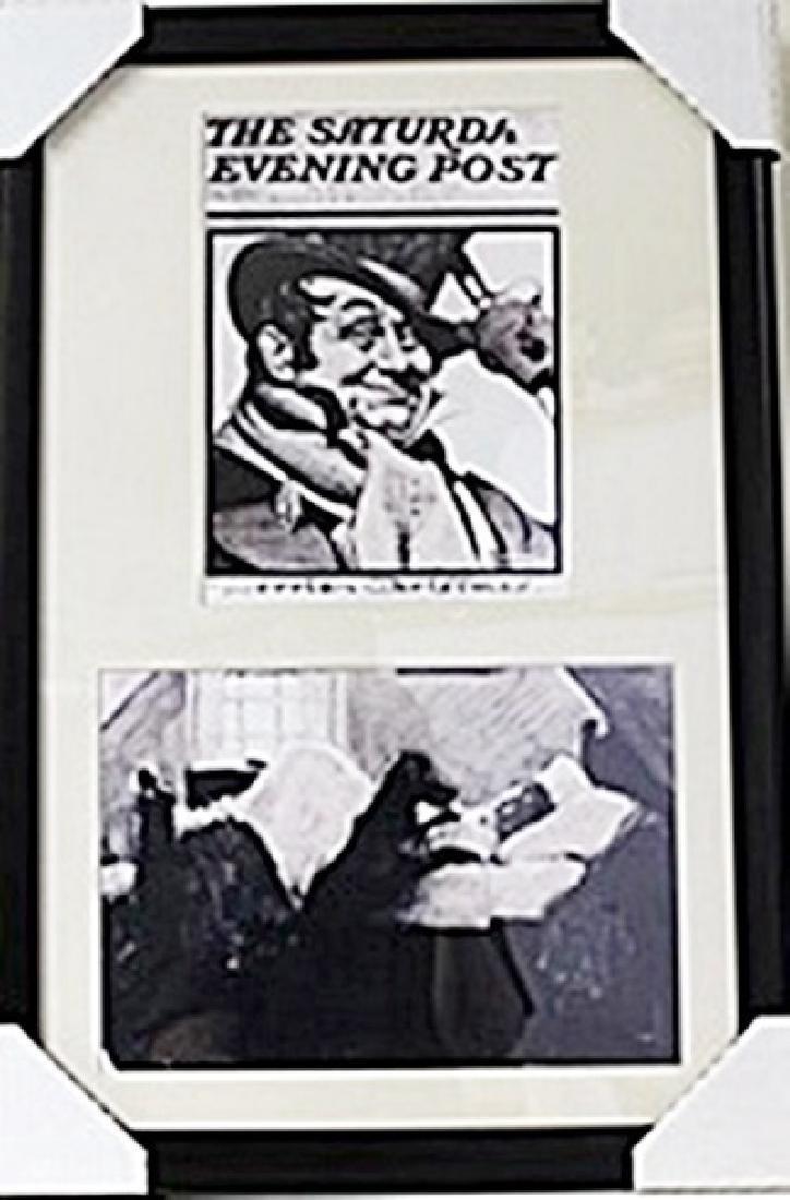 Framed 2-in-1 Norman Rockwell Lithographs (142E-EK)