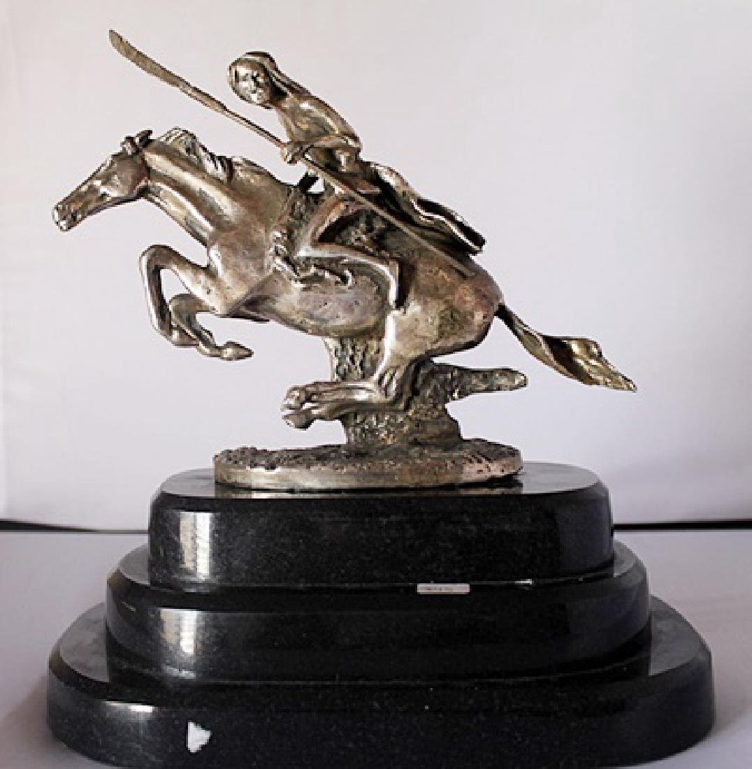 Cheyenne - .999 Silver - Old Cast Frederic Remington