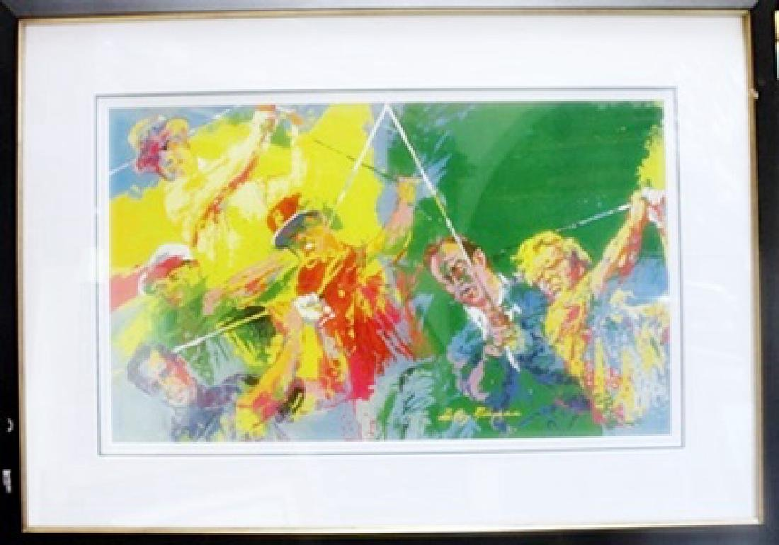 """Framed Lithograph """"Champions Of Golf"""" LeRoy-Neiman"""