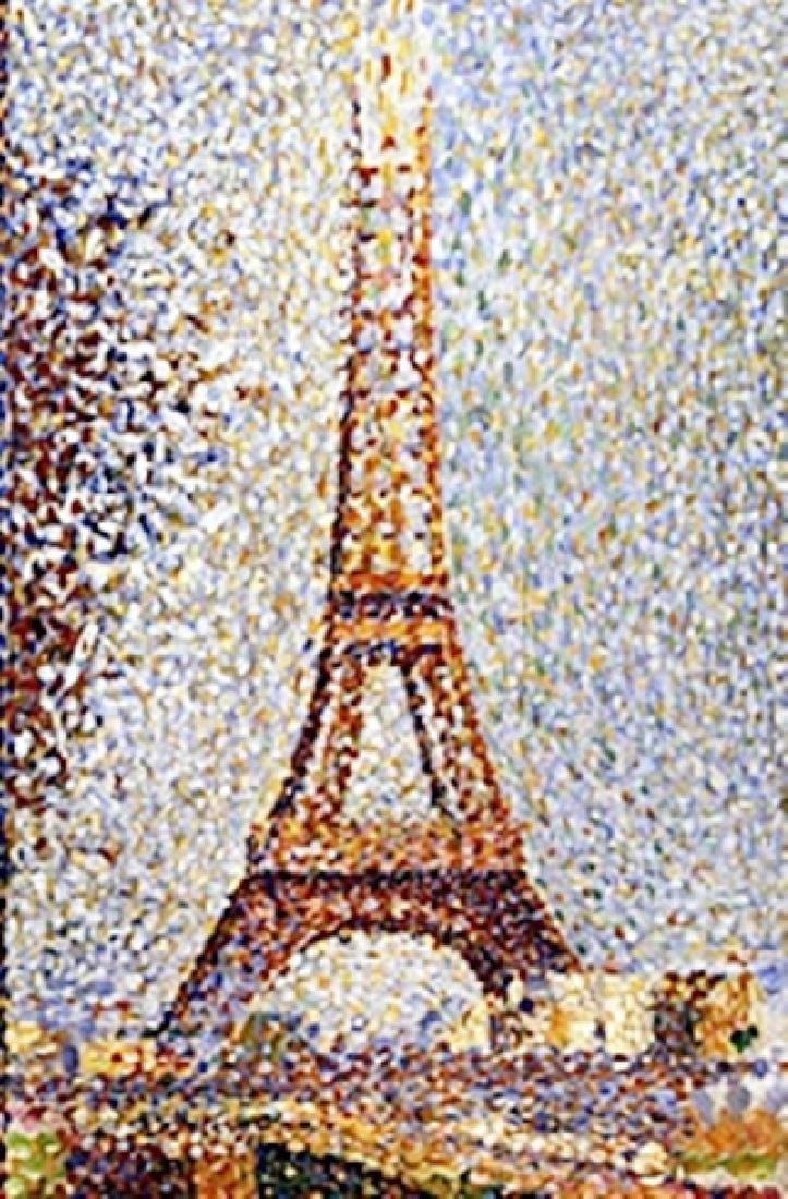 "Print ""Eiffel Tower""  Georges Seurat"