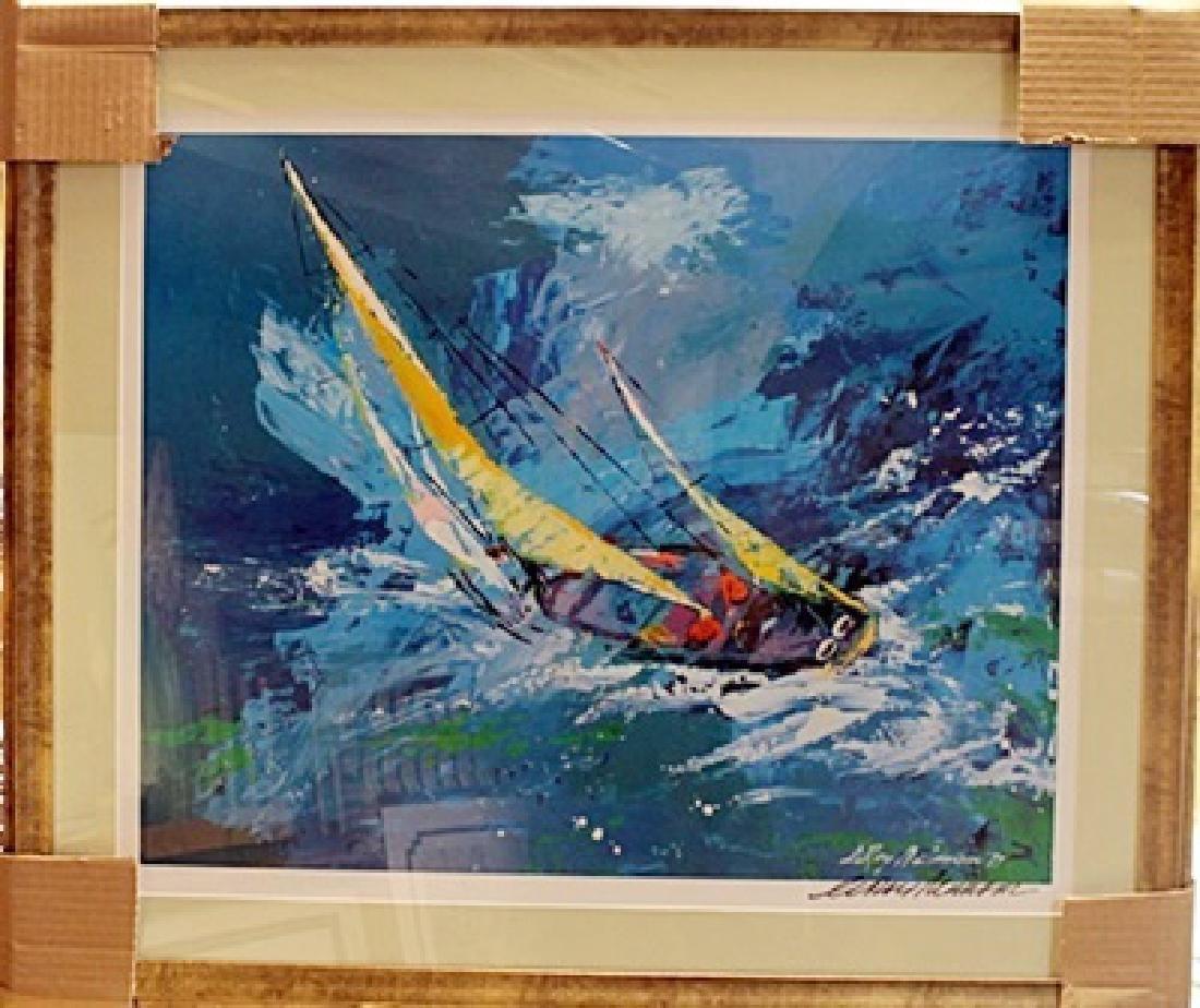 "Framed Lithograph ""Sailing"" LeRoy-Neiman"
