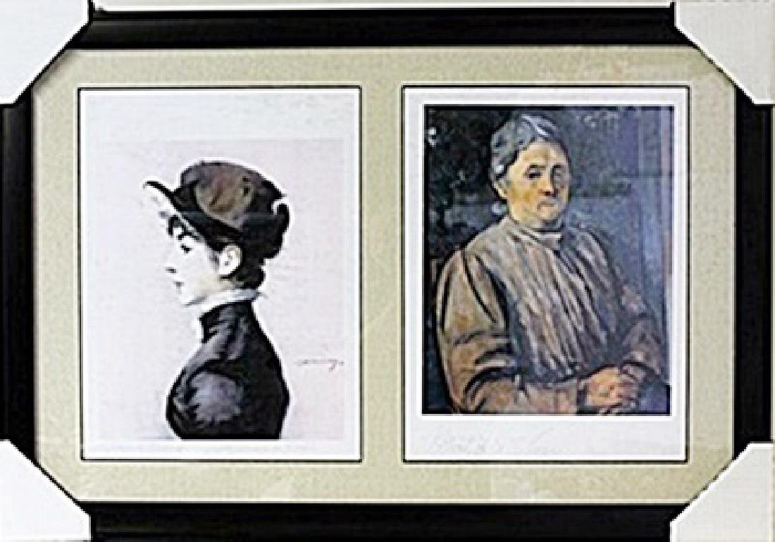 Framed 2-in-1 Edouard Manet and Paul Cézanne