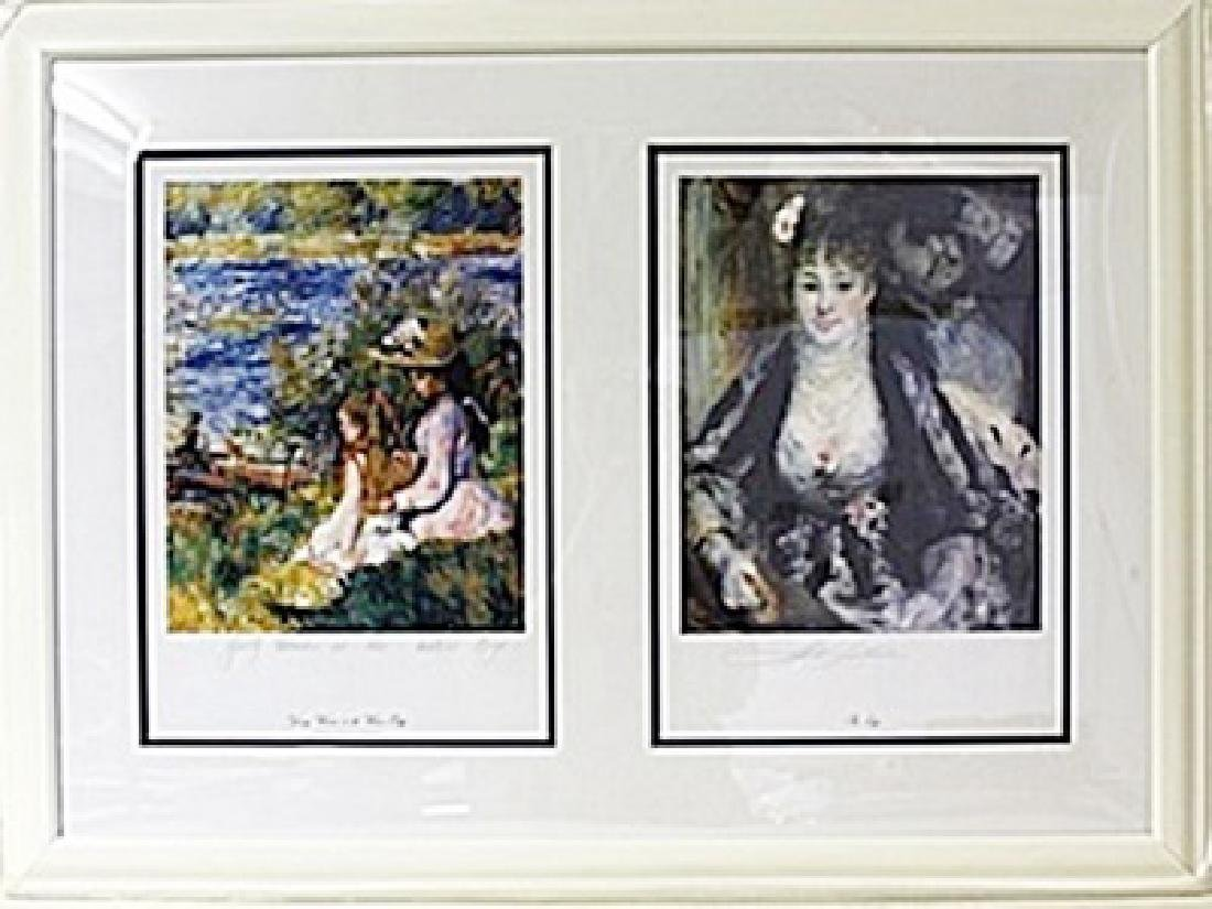 Framed 2-in-1 Pierre-Auguste Renoir Lithographs