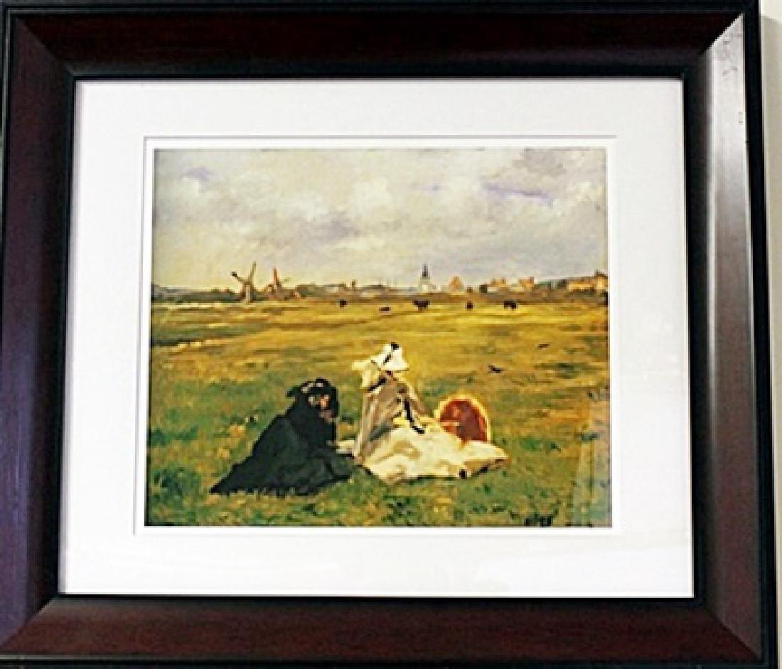 Framed Edouard Manet - The Swallows Lithograph (61E-EK)