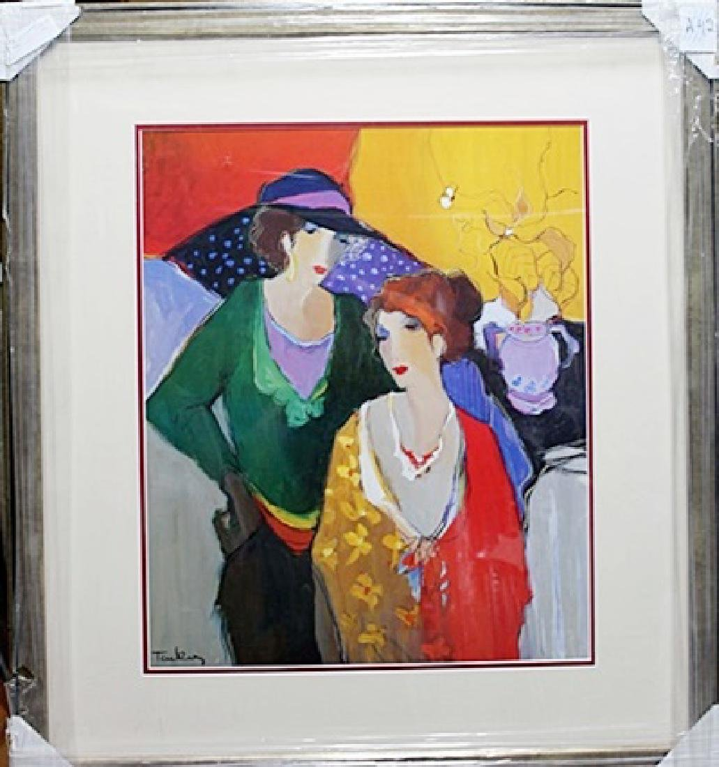 Framed Plate signed Lithograph - Itzchak Tarkay