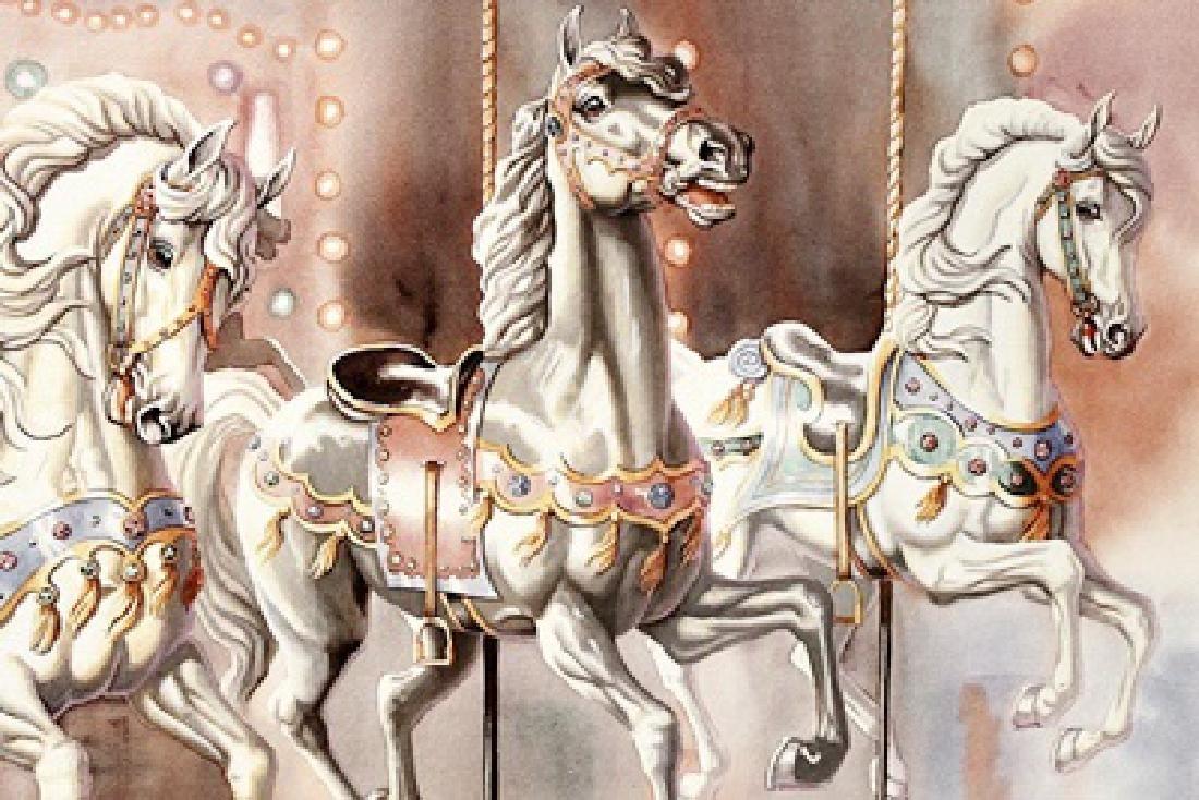 Carousel - Judy Gibson - Lithograph