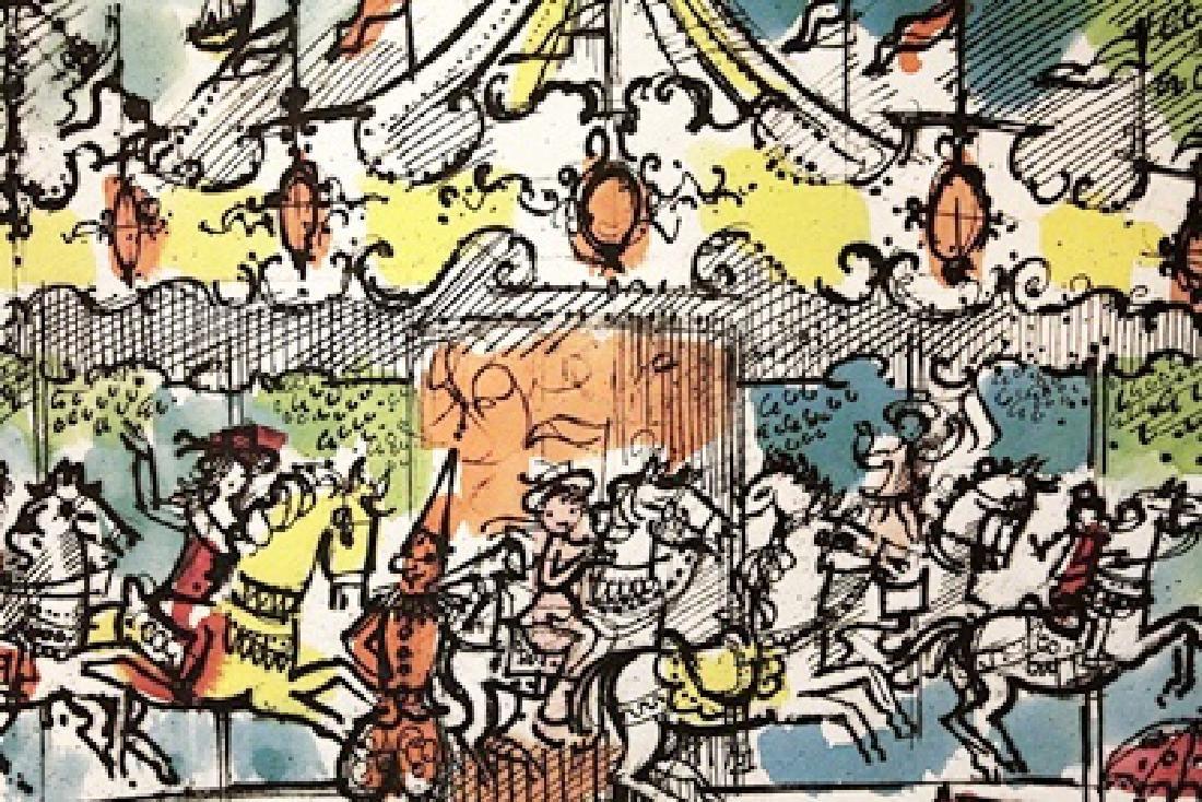 Carousel - Charles Cobelle - Lithograph
