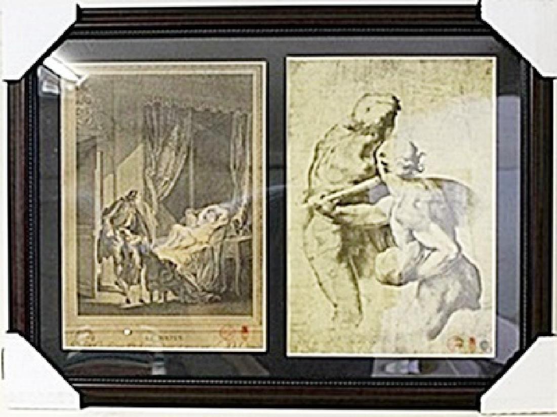 Framed 2-in-1 Engravings (115E-EK)